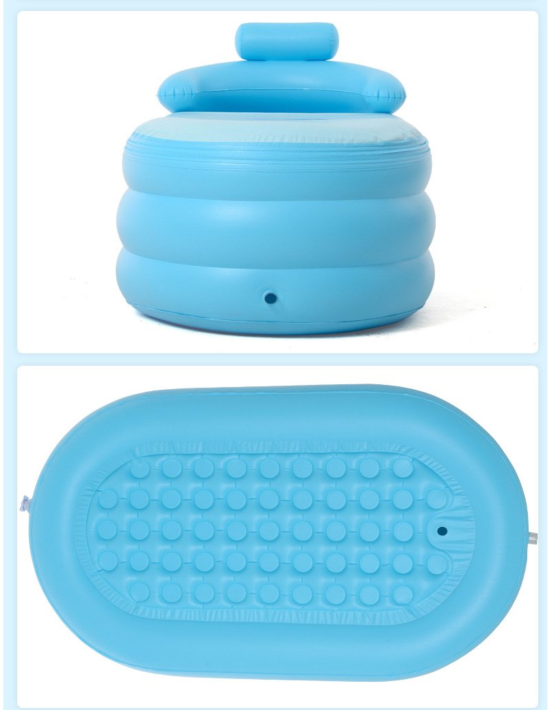 Intime Adult Baby PVC Portable Folding Inflatable Bath Tub for ...