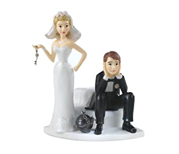 Amazon wilton ball and chain humorous cake topper kitchen dining junglespirit Image collections
