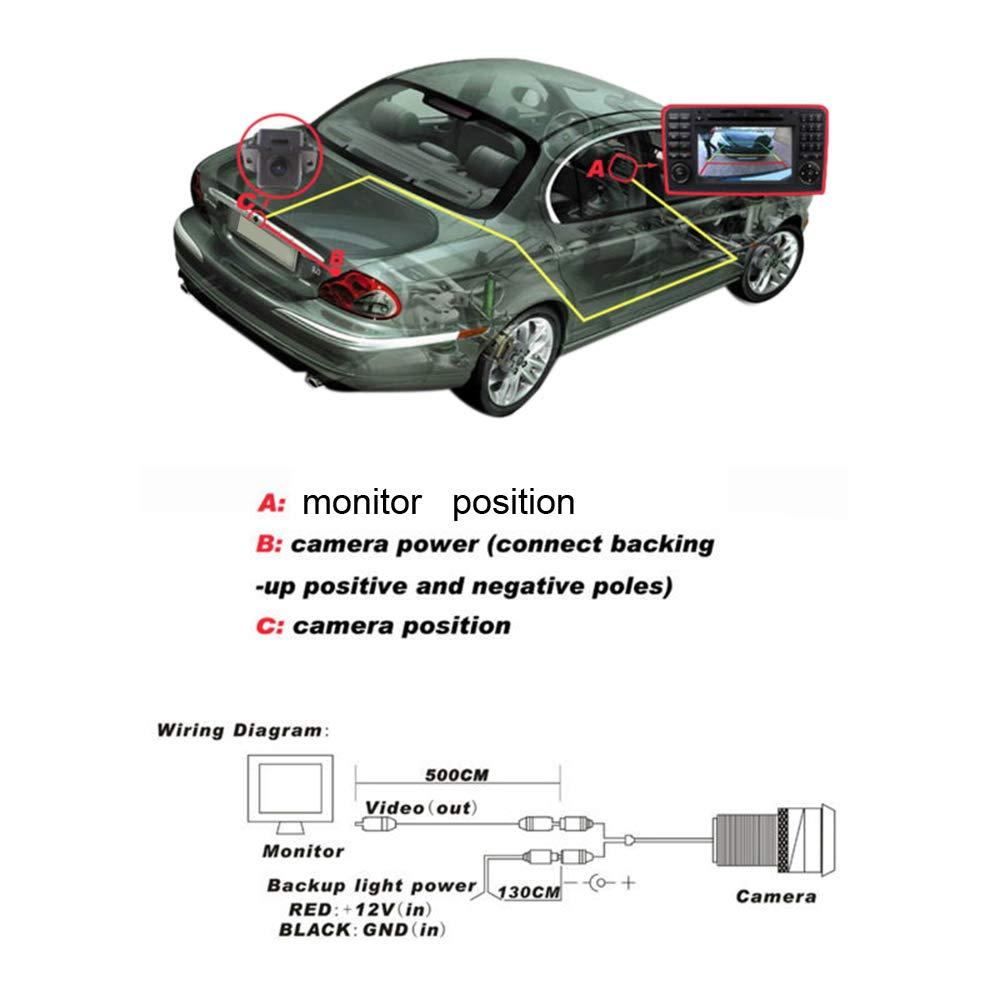 SODIAL C/ámara De Marcha Atr/ás del Coche para Audi A1 A3 A4 A5 A6 Rs4 TT Q5 Q7 Volkswagen Passat