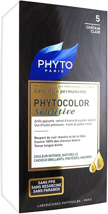 Phyto phitocolor Sensitive N.5 Castaño Claro: Amazon.es: Belleza