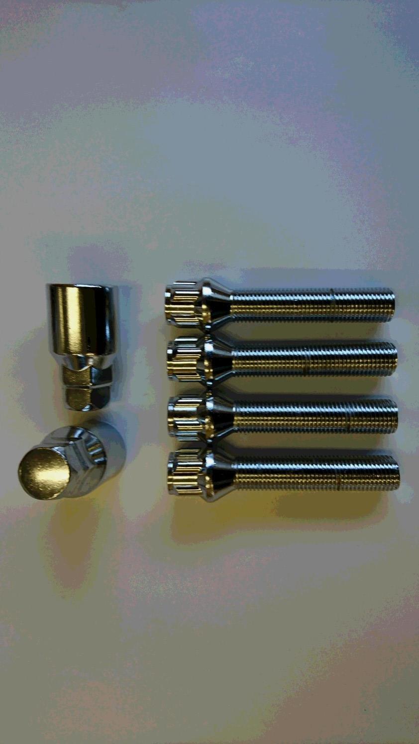 メッキロックボルト テーパー 14x1.5 首下25mm~60mm 1mm単位で選択可能 B076WPL4TV