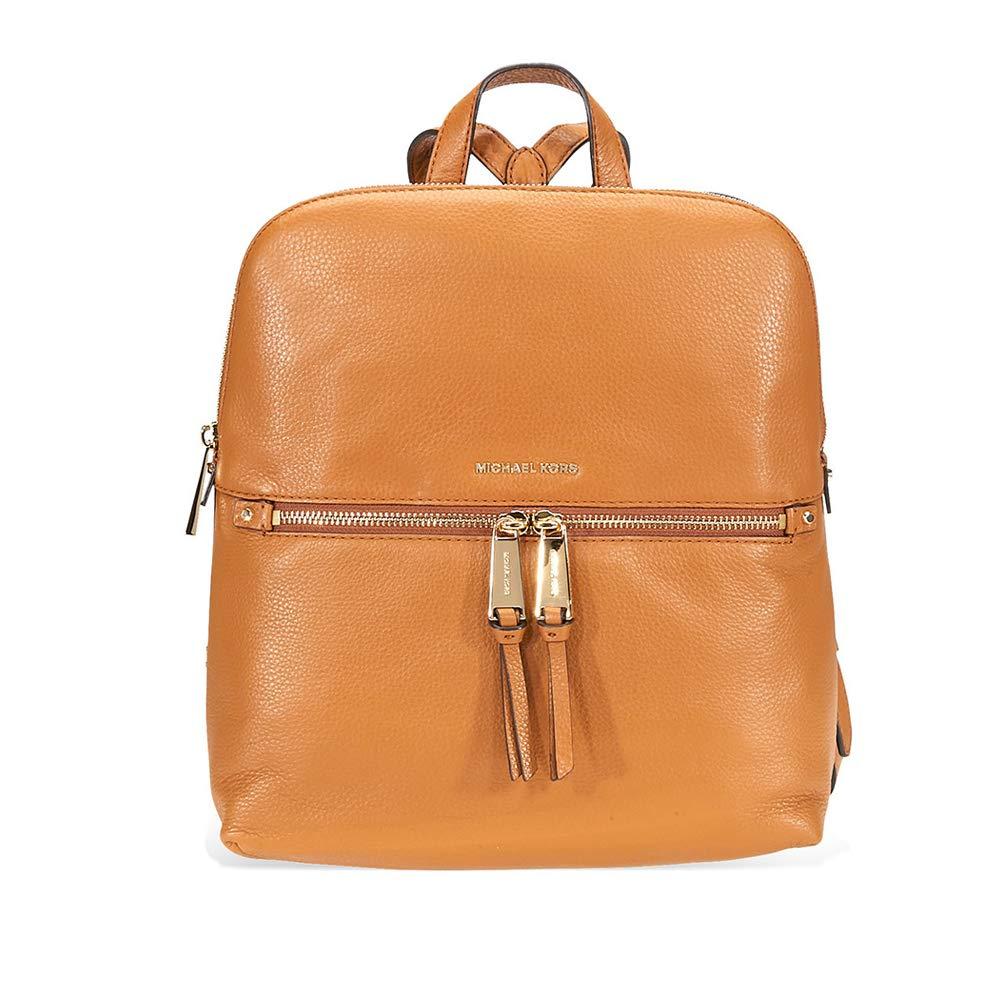 e169e33abd65 Amazon.com  Michael Kors Rhea Medium Slim Leather Backpack- Acorn ...