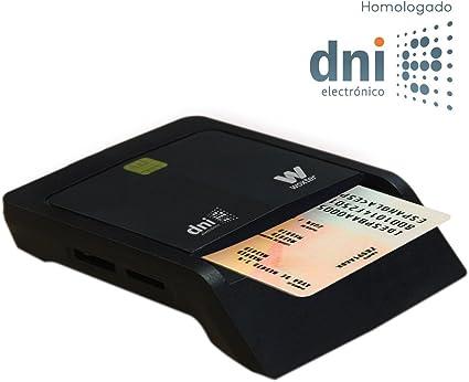 Woxter Lector Dni Combo - Lector DNI electrónico, Compatible con Las Tarjetas Smart Cards o Tarjetas Inteligentes, con 3 Ranuras para Tarjetas, Color Negro: Amazon.es: Informática