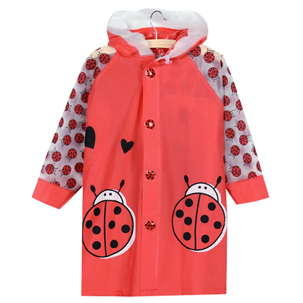 Ladybird Cute Baby Rain Jacket Infant Raincoat Toddler Rain Wear M Blancho Bedding