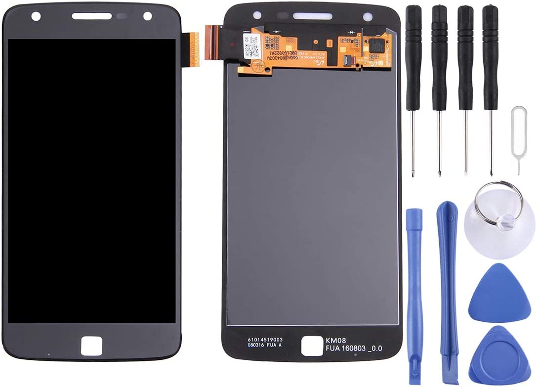 Touch Panel for Motorola Moto Z Play Black Mobile Phone LCD Screen Replacement LCD Screen Color : White