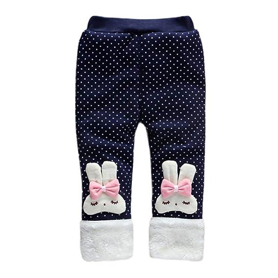 Leggings Niña Navidad, Zolimx 1-3 Años de Moda Caliente de Pierna Bebé Niña Pantalones Niño Dibujos Animados Bowknot Pantalones