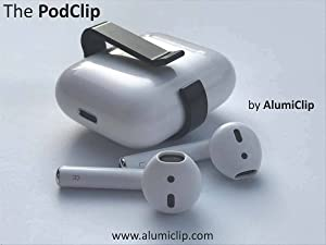 PodClip for AirPods - Belt Clip & Carrying Holster Holder for The Apple AirPod