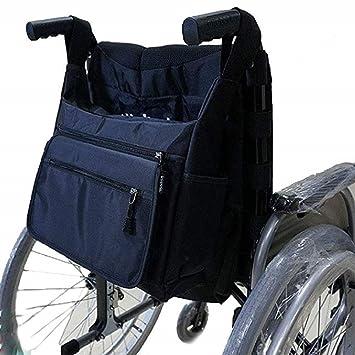 Mochila para silla ruedas Bolsa almacenamiento, Bolsillo para manos libres Accesorios organizador Bolsa viaje para