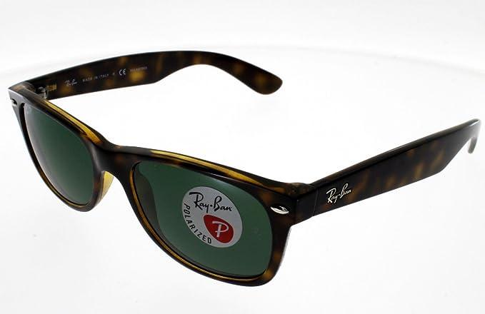 ee5bebdf3667c Ray Ban 2132 New Wayfarer 902 58 - Gafas de sol para hombre Marrón marrón   Amazon.es  Ropa y accesorios