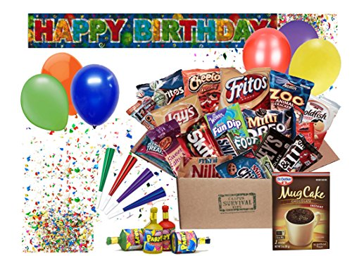 Happy Birthday Campus Survival Kit Care Package (Classic)