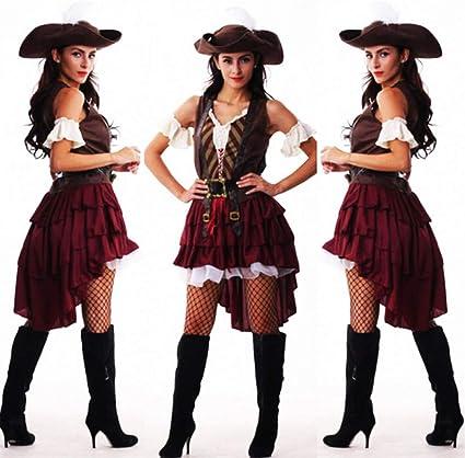 GBYAY Disfraz de Pirata para Mujer, Talla Grande para Mujer ...