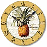 Item C2100 Vintage Style British Colonial Pineapple Clock (12 Inch Diameter) For Sale