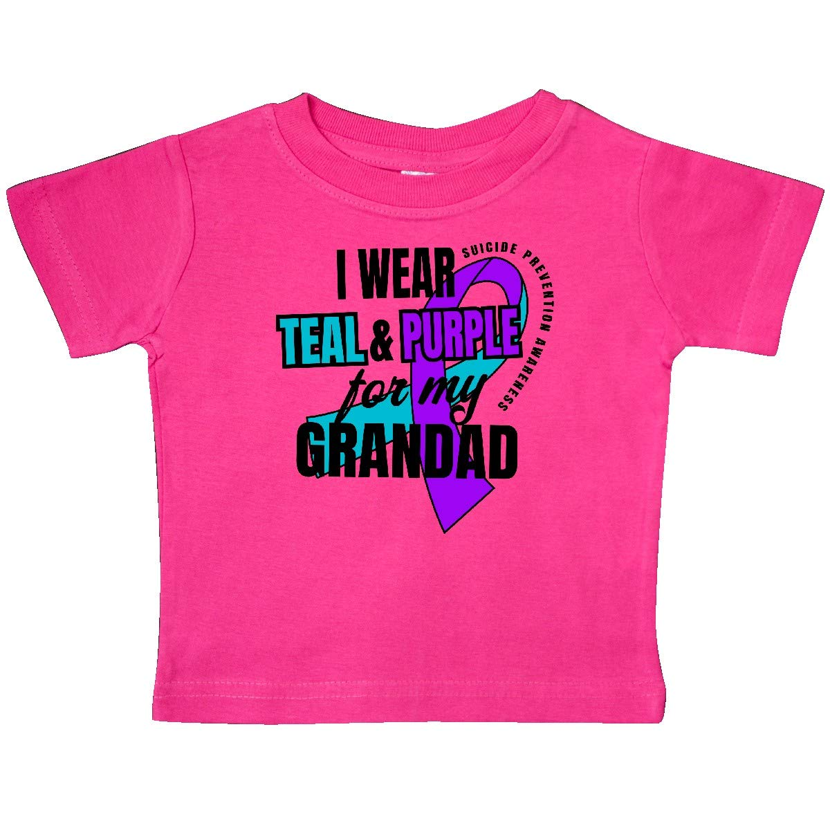 inktastic Suicide Prevention I Wear Teal and Purple for My Grandad Baby T-Shirt