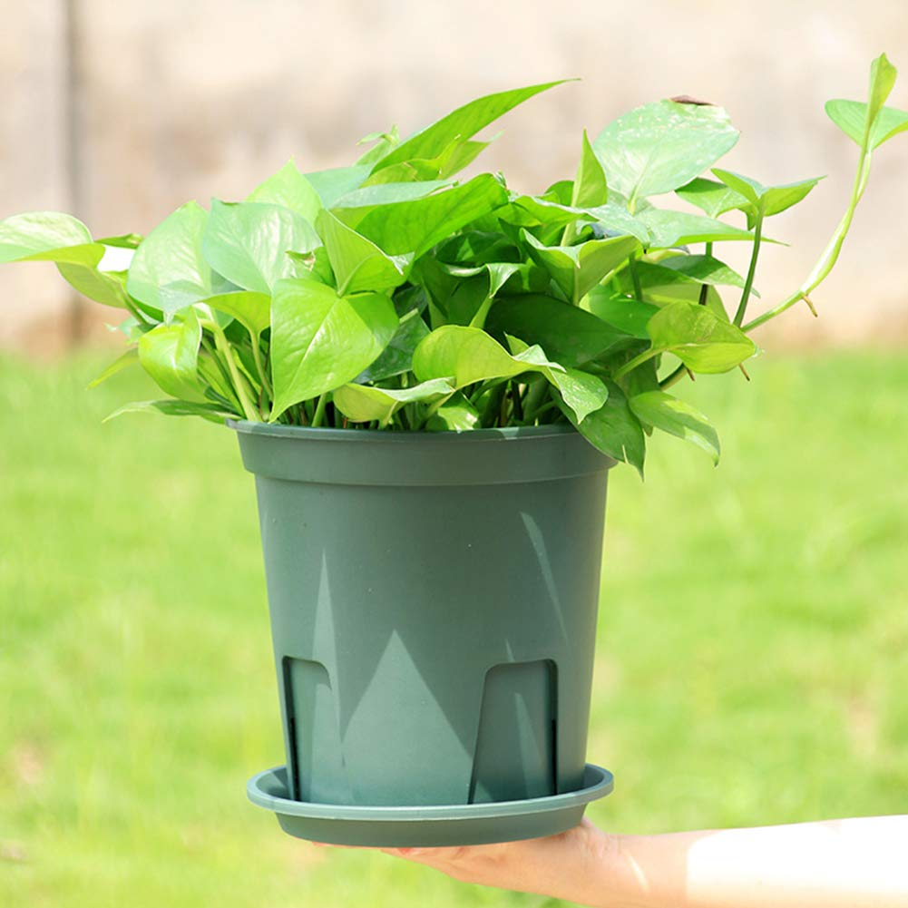 elegantstunning Plant Pot Root-control Flowerpot Practical Plastic Cuttage Planting for Clematis China Rose Decoration Green