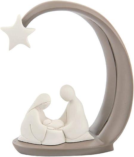 MAZZOLA LUCE Presepe Design Stilizzato Statuetta da Tavolo Tortora