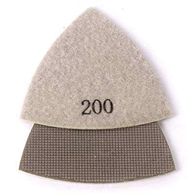 Specialty Diamond BRTRI200 200 Grit Electroplated Diamond Triangular Polishing Pad For Oscillating Tools: Home Improvement