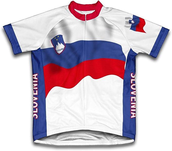 Slovenia Bandera Maillot de Ciclismo Manga Corta para Hombre - Talla S: Amazon.es: Deportes y aire libre