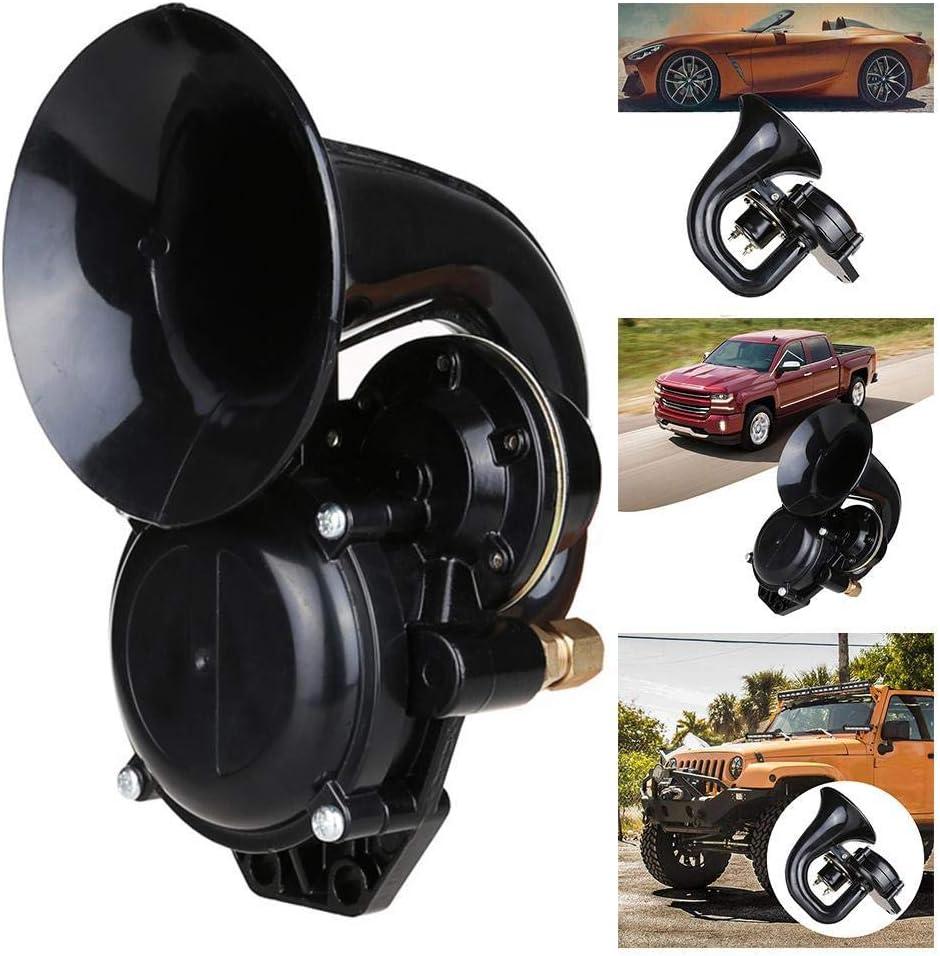 Universal Schneckenhorn 24 V Lufthorn Laute Sirene Horn Speake 120db Einzelne Trompete Schnecke F/ür Auto LKW Bus Motorrad Auto Roller 12 V