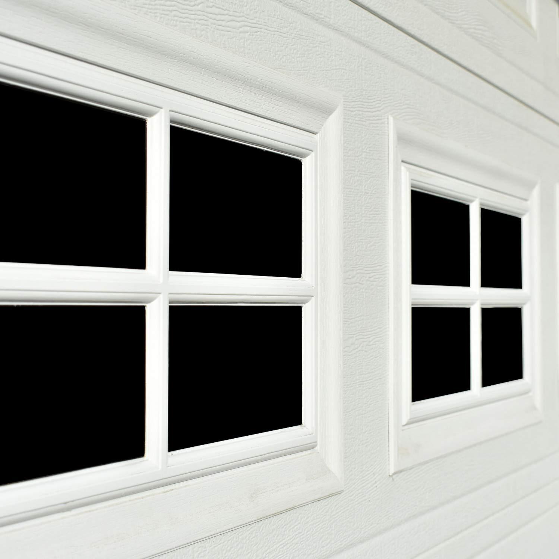 Garage Door Decorative Hardware 32-Pack (5.9''x 3.93''), 2 Car Large Door Faux Magnetic Windows All Season Weather Resistant Non-Fade PVC Small Panels Kits Easy Installation for Metal Garage Door