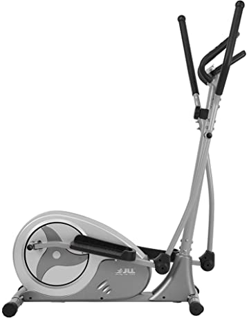 JLL® CT300 Home Elliptical Cross Trainer, 2020 Magnetic Cardio Workout with 8-level Magnetic Resistance, 5.5KG Two Way Flywheel, Console Display with Heart Rate Sensor and Tablet Holder. Silver