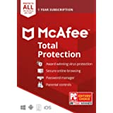 McAfee Total Protection 2020 Unlimited Devices, Antivirus Internet Security Software Password Manager, Parental Control, Priv