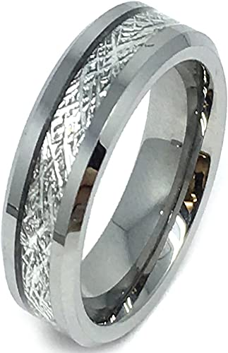Jewel Tie Stainless Steel Grooved /& Polished 6mm Black IP-Plated Wedding Band