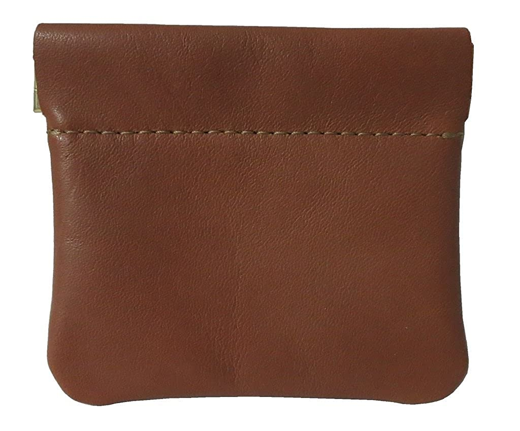 North Star Men's Leather Squeeze Coin Pouch Change Holder NS902-$P
