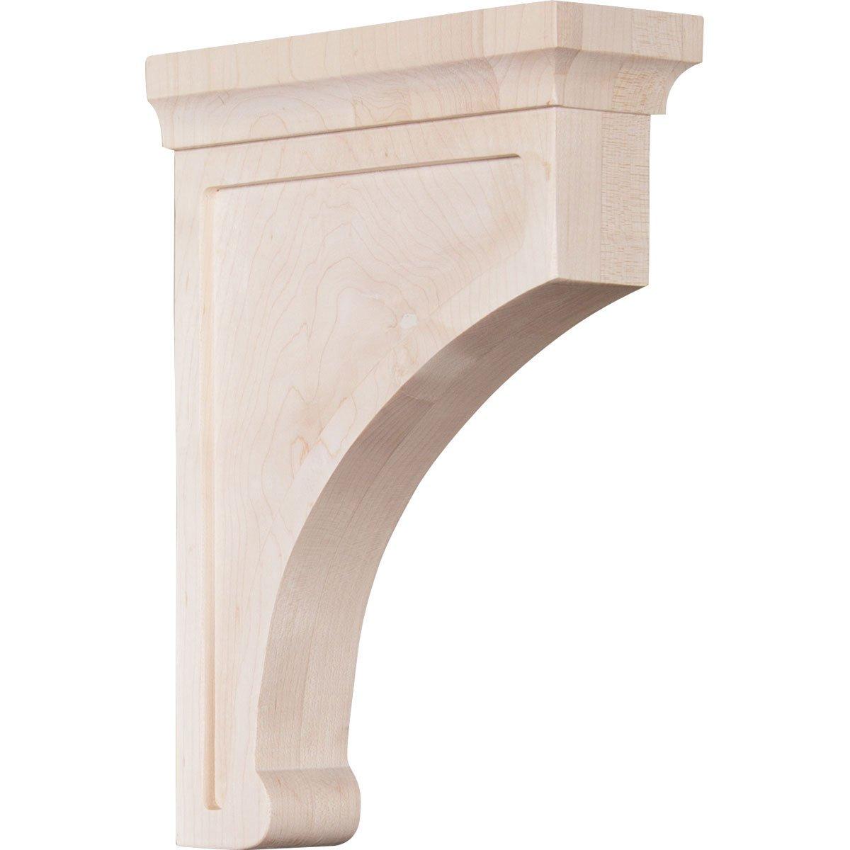 Ekena Millwork BKTW02X07X10GORW 2 1/2''W x 7''D x 10''H Large Gomez Wood Bracket, Rubber Wood