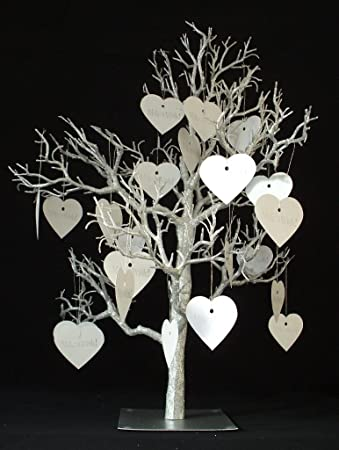 Silver Wedding Wish Wishing Tree Table Decoration 32 Inch