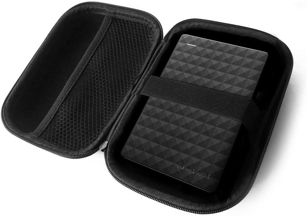 FitSand (TM) トラベルジッパーキャリー EVA ハードケース Seagate Expansion 1TB 2TB 4TB ポータブル外付けハードドライブ用