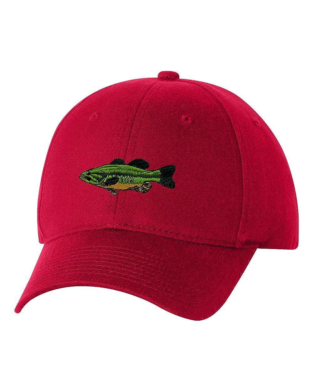 57787eae7c3 Amazon.com  Largemouth Bass Custom Personalized Embroidery Embroidered Hat  Baseball Cap  Clothing
