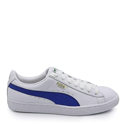 5493124b14 Puma Men s Basket Classic LFS White and Turkish Sea Leather Sneakers-10.5 UK  India