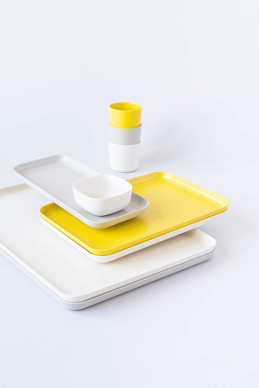 Lemon Yellow Large EKOBO 35854 Serving Biobu Gusto Tray