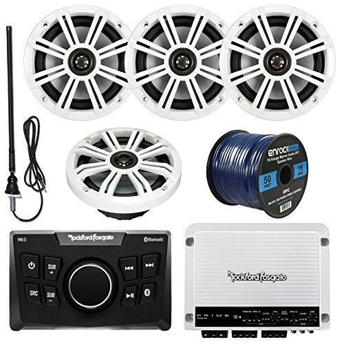 rockford-fosgate-pmx-0-ultra-compact-bluetooth-marine-boat-digital-media-receiver-bundle-combo-with-