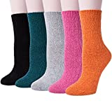 5 Pairs of Thick Knit Warm Casual Crew Winter Socks