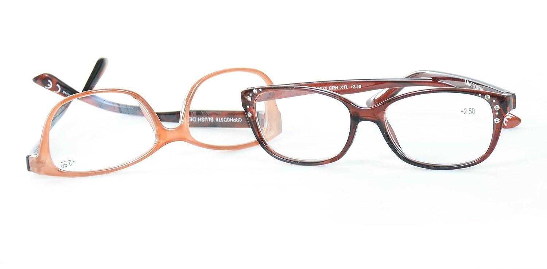 31b65777f9e Amazon.com  Max Edition Premium Reading Glasses with Rhinestones 2 Pack  +2.50  Health   Personal Care