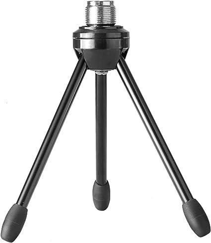 Neewer Soporte trípode de micrófono de mesa escritorio plegable ...