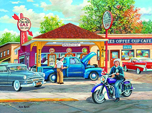 Sunsout 2019 Remembering Full Service by Artist Ken Zylla 1000 Piece Food and Drink Jigsaw Puzzle (Service 1000 Piece)