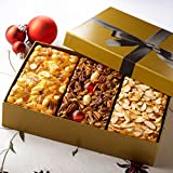 Beatrice Bakery P3-B8TO-TV5B Heavenly Trio Fruit Cake Assortment with Gold Box