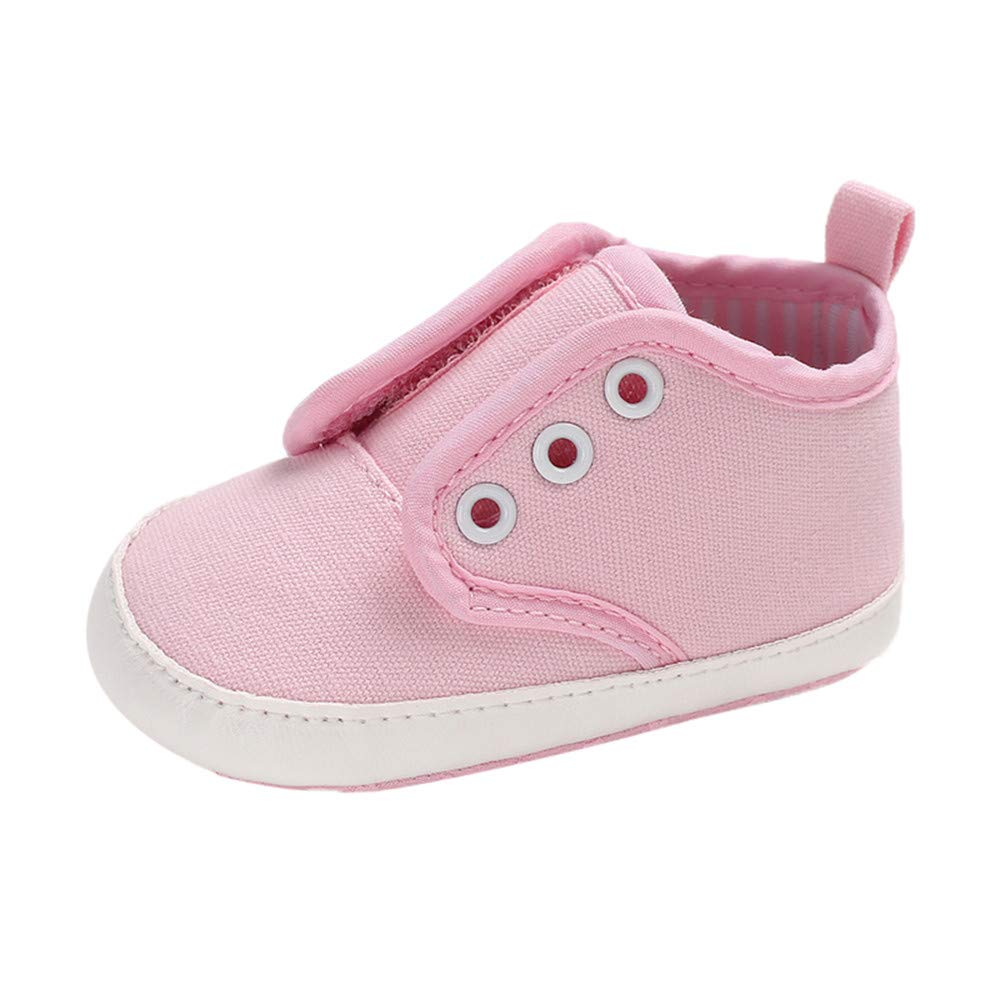 XUANOU Baby Canvas Shoes Sneaker Anti-Slip Magic Sticker Study Step Soft Sole Toddler