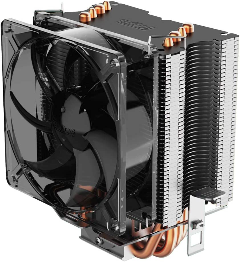 Pccooler S90F Premium CPU Air Cooler with 4 Heatpipes - Super Power CPU Heatsink - TDP 135w - 92mm PWM Fan Suitable for Mini PC Case, Intel Core i7/i5/i3, AMD Series