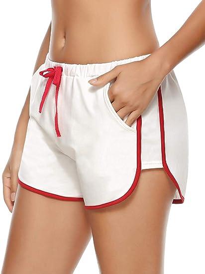 Abollria Donna Pigiama Pantaloni Corti in Cotone al 95/% Pantaloncini Sportivi Donna per Sport Corsa Casa Hotel