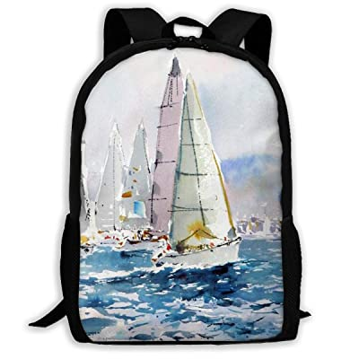 SARA NELL School Backpack There Are Several Art In Sailing On The Sea. Bookbag Casual Travel Bag For Teen Boys Girls: Clothing