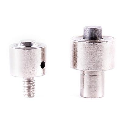 GETMORE Parts Matriz para Colocar Remaches Cabezal Doble Herramienta para m/áquina Manual 6 mm