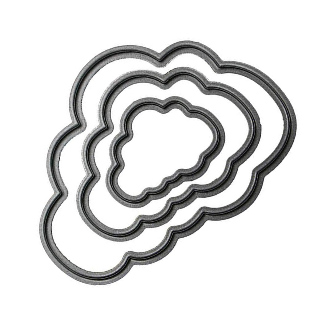Fangfeen Acciaio al Carbonio Svegli Nuvola Telaio Stencil goffratura d'Argento Fustelle 3D Scrapbooking Carta Craft Dies