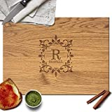 Froolu Antique Monogram Personalised Cutting Board Wedding Couples Gift Deal (Small Image)