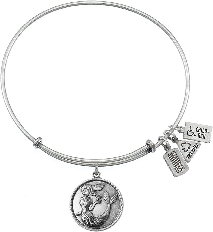 Fred Meyer Jewelers Wind /& Fire Mermaid Charm Bracelet in Silver Tone