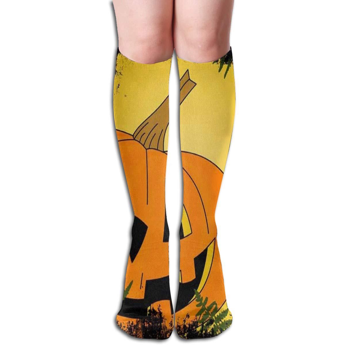 Girls Socks Over Knee Blue Flame Winter Trendy For Halloween