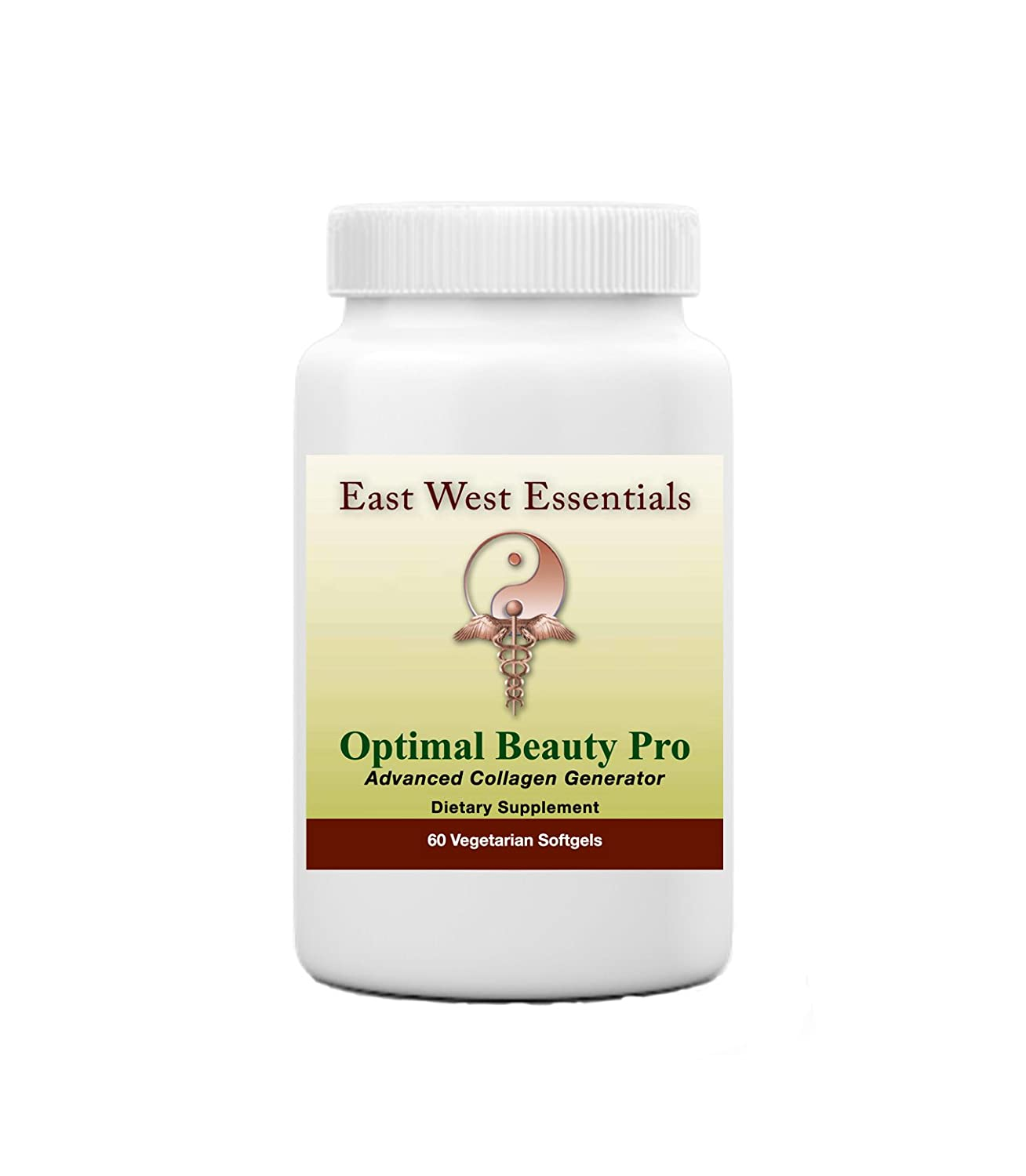 Optimal Beauty Pro – Dietary Supplement by East West Essentials – Promotes Thicker, Healthier Hair – Helps Build Collagen – Reduces Fine Lines Wrinkles
