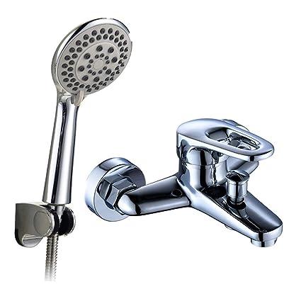 Bañera grifo de la ducha de cobre caliente y fría baño de la válvula de mezcla